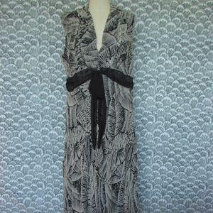 JONATHAN MARTIN Washable Silk Pattern Midi Dress